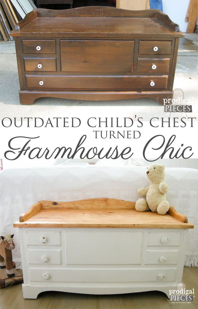 Wooden Chest Made Farmhouse Chic. Diy Furniture ProjectsFurniture  RefinishingUpcycled ...