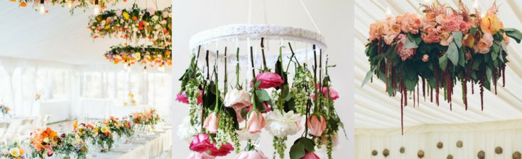Wedding Wednesday trend: chandeliers with flowers