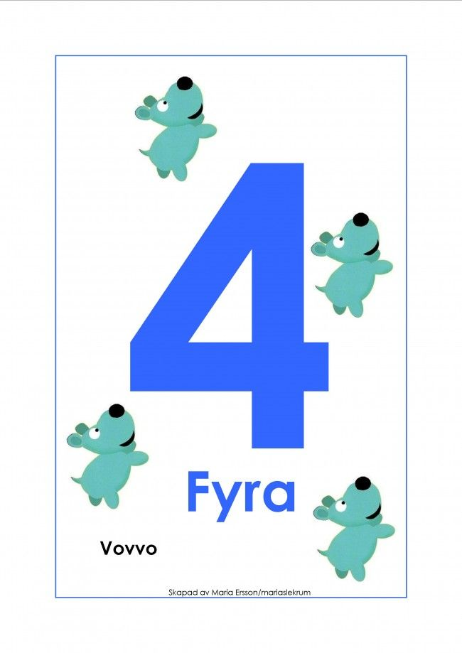 Sifferkort 1-12 utan tecken med Babblarna