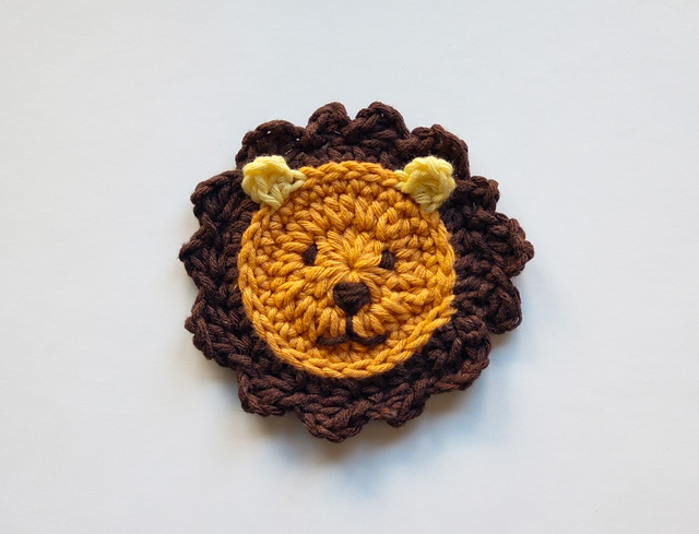 Ravelry: Lion Applique pattern by Carolina Guzman   Pattern $3.75