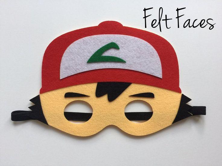 Ash the Pokemon Trainer Mask, Pokemon Party Supplies, Pokemon Party Favors