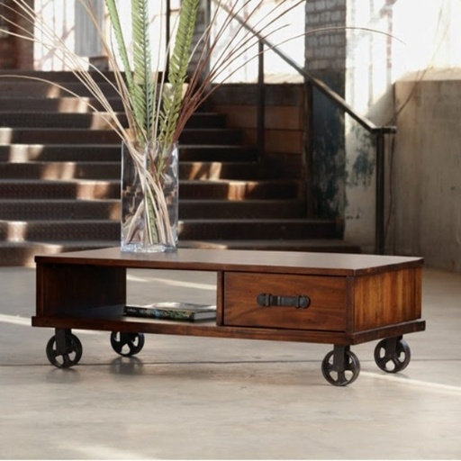 Coffee Table Leather Drawers: MCCARREN COFFEE TABLE Acacia Solids And Veneer With