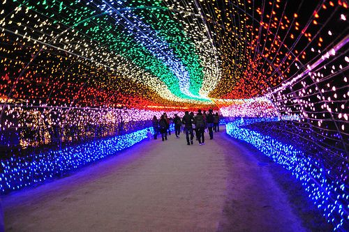 Rainbow Light Tunnel