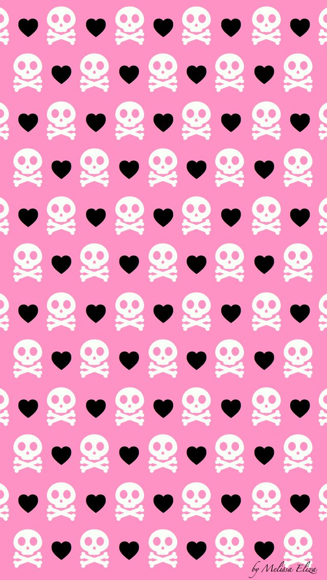 225 best backgrounds images on pinterest backgrounds background pink girly skullcross bone and hearts wallpaper voltagebd Image collections
