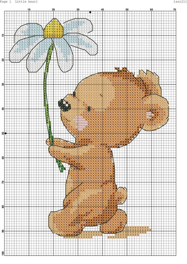 Cross stitch little bear.