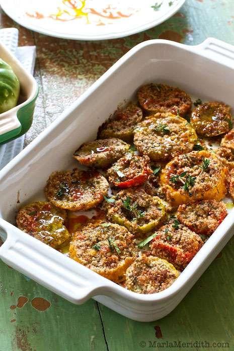 Almond Roasted Heirloom Tomatoes - MarlaMeridith.com
