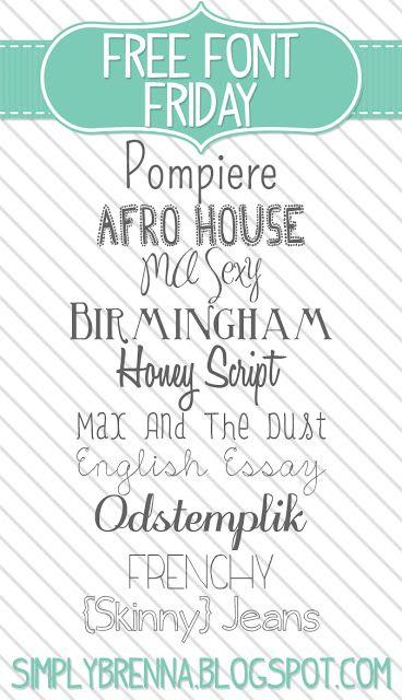 free font download Simply Brenna WEEK 1