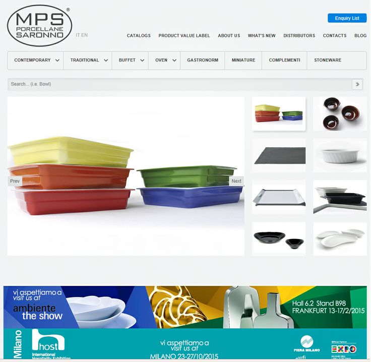 New MPS Website by Paolinidesign http://www.mpsporcellane.com
