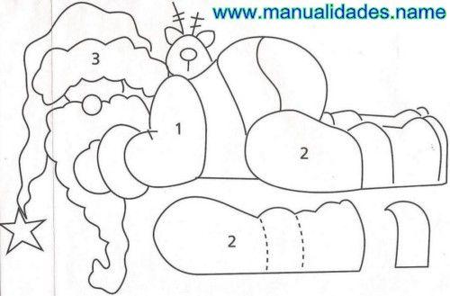 Compartir en WhatsAppAdorno de Papá Noel para el marco de la puerta A este Papá Noel se le están cayendo los regalos de la bolsa. Un lindo decorado para una Navidad divertida. (adsbygoogle = window.adsbygoogle || []).push({}); *Materiales: -Papel carbónico -Acetato -Lápiz negro -Tijeras -Pistola encoladora -Pinceles redondo de cerda dura y liner -Alambre -Pinza...