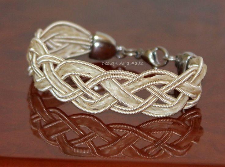Horsehair bracelet. Horsehair and Sterling Silver. designarjaaalto.fi
