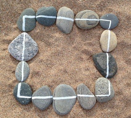 "White Line Pebble Maths - fab as ever from I'm a teacher, get me OUTSIDE here! ("",)"