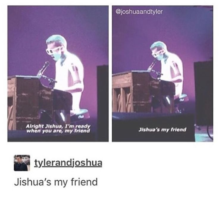 """I love how he'll just randomly say during concerts """"that's my best friend.""""<<< i saw them in concert and he does it multiple times like he's claiming him and it's so cute http://amzn.to/2k2HTMQ"""