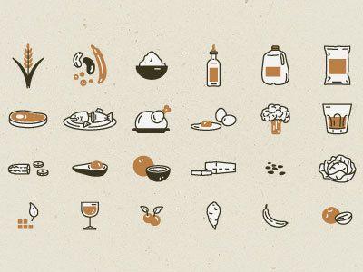 Food icons - thanksgiving