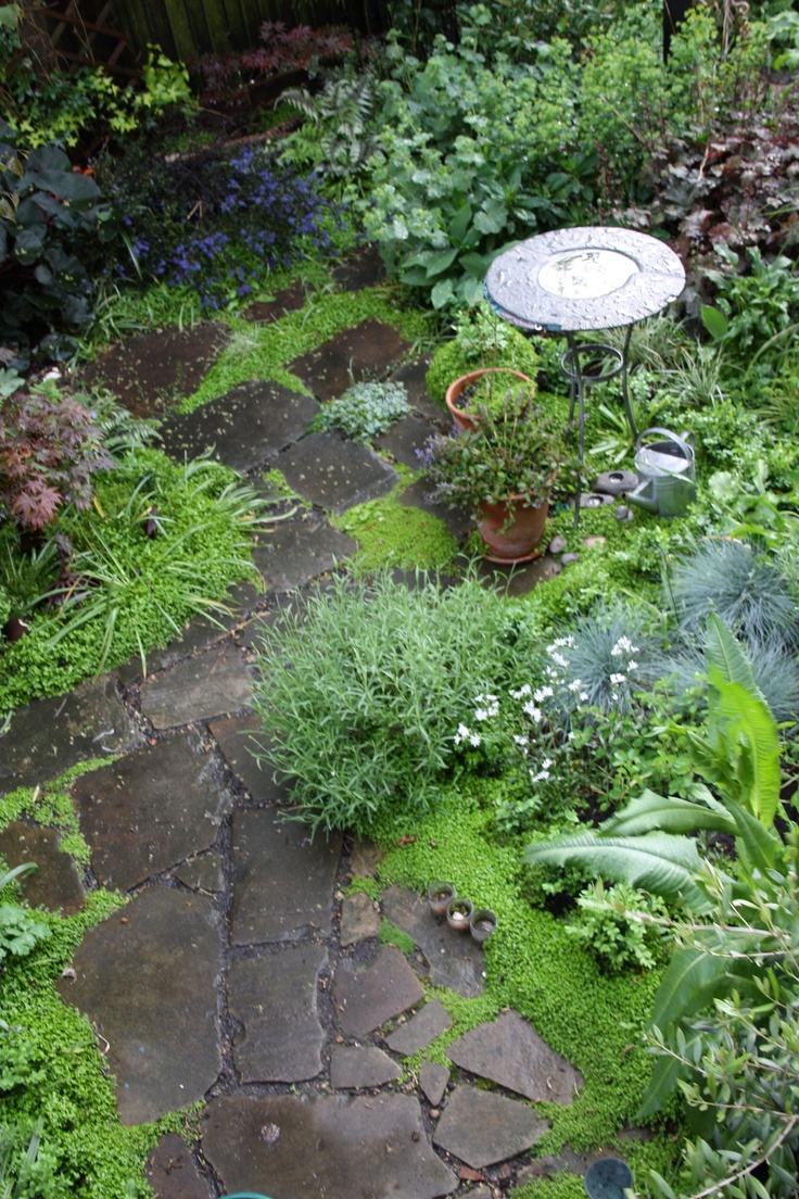 Pathways amp steppers sisson landscapes - Garden Path With Bird Font By Helen Nock