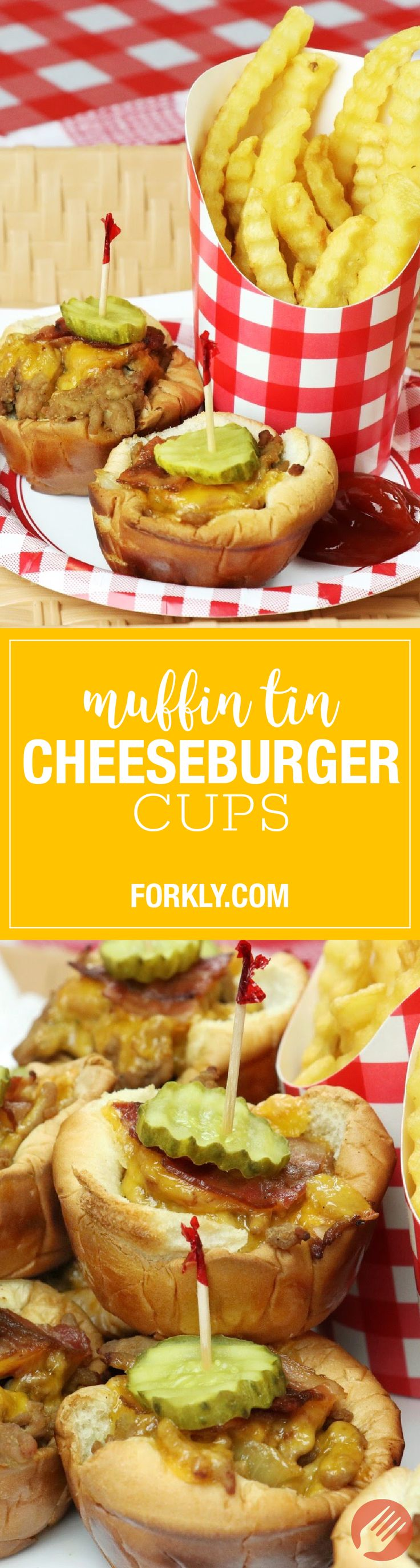 Muffin Tin Cheeseburger Cups : The e asy to share burger recipe that's perfect for football watching and party appetizers that will make everyone happy!