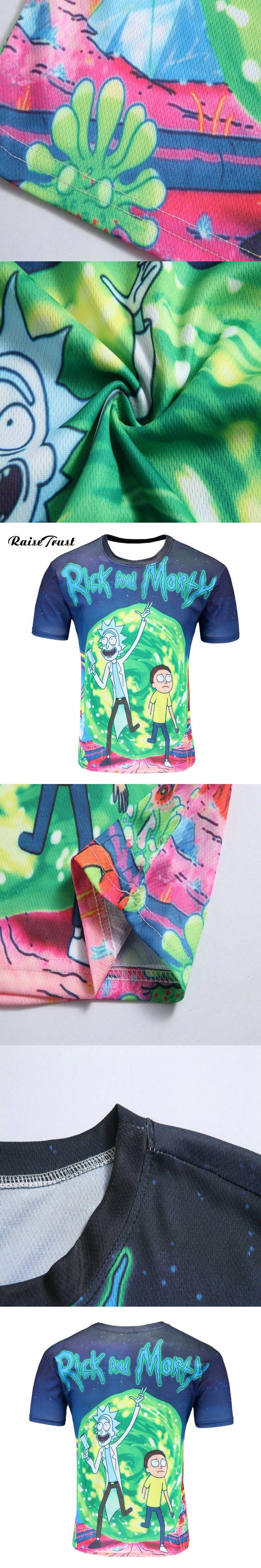 Fashion Men/Women 3d T-Shirt Printed rick  morty Funny Anime tee shirts Summer Short sleeves Hip Hop Style O-neck t shirt