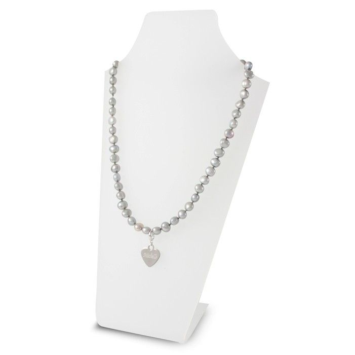 Grey Pearl Name Necklace  This Grey Pearl Name Necklace would make an ideal Mother's Day Gift £24.99 Free UK Delivery