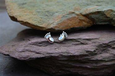 Little feet earrings - these sterling silver ear-rings are the cutest  http://silverhavenjewellery.com/products/256346--little-feet-earrings.aspx