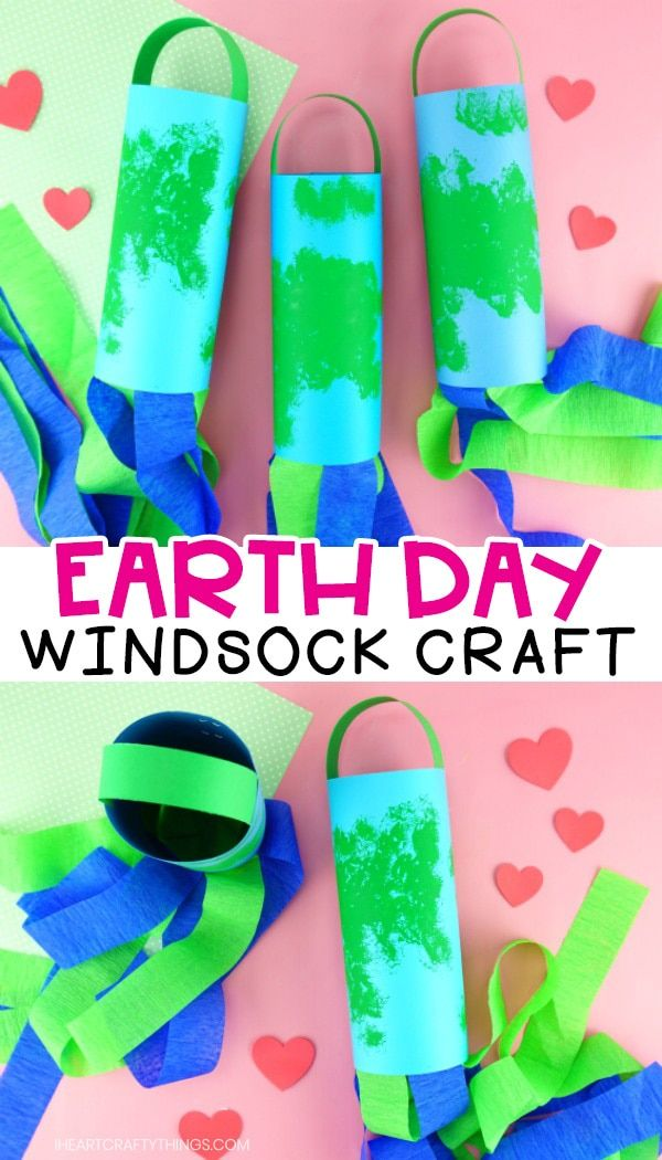 Earth Day Windsocks Earth Day Crafts Recycled Crafts Kids Recycled Crafts Kids Preschool Easy recycling projects for preschoolers