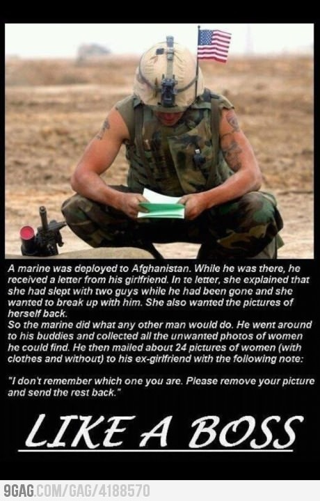 REJECTION...LIKE A BOSS!: This Man, Us Marines, Like A Boss, Soldiers, Funny Pictures, Stay True, Breakup, Break Up, Likeaboss