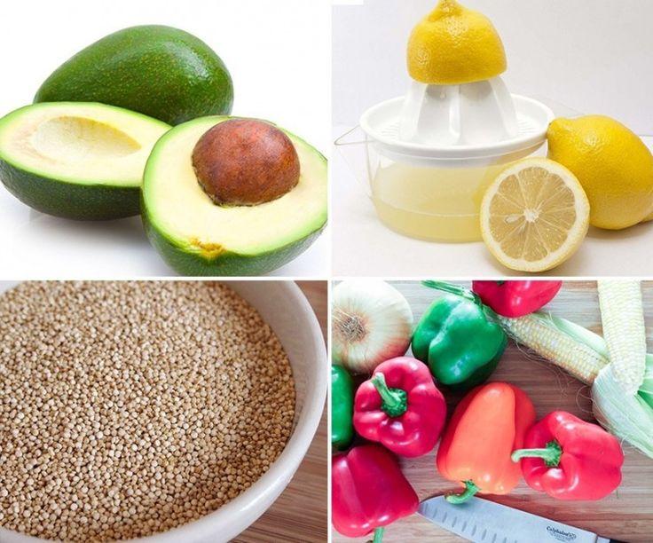 Receta: pimientos rellenos de quinoa y aguacate.