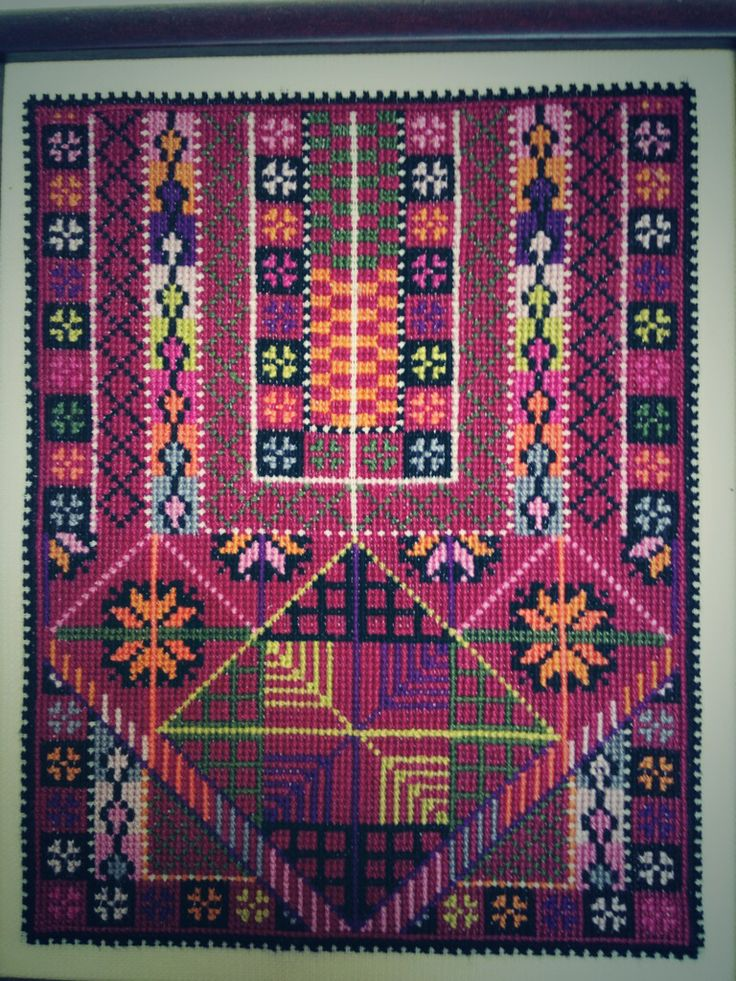 Palestinian cross stitch, could be great for a dress front!