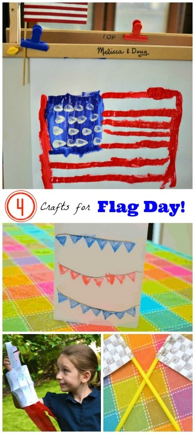 """Flag Day is June 14! Here are some creative """"flag-themed"""" crafts for your kids, plus some fun facts about the holiday!"""
