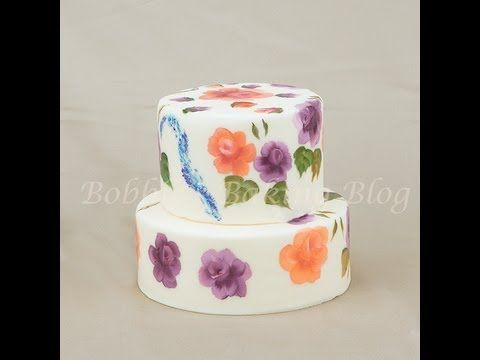 How to Paint on Fondant Cakes!