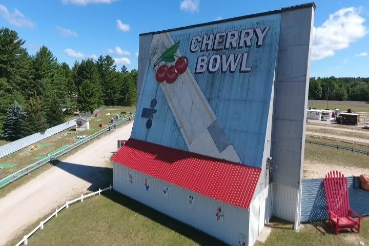 Northern Michigan From Above: Cherry Bowl Drive-In In Benzie Cou - Northern Michigan's News Leader