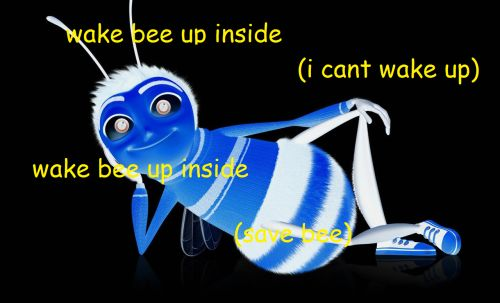 SAVE BEE FROM THIS DARKNESS I'VE BEE-COME   I CANT.