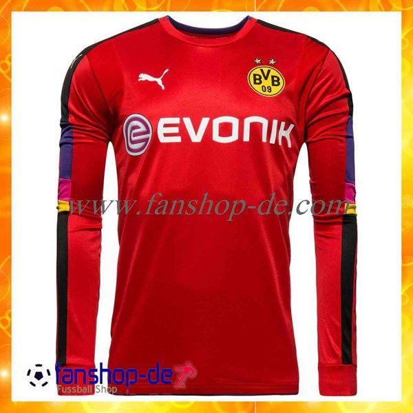 Neueste Dortmund BVB Torhuter Fussball Trikots Rot 2016/2017 Fan Shop Kaufen