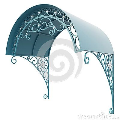 Wrought iron canopy by Egorovajulia, via Dreamstime