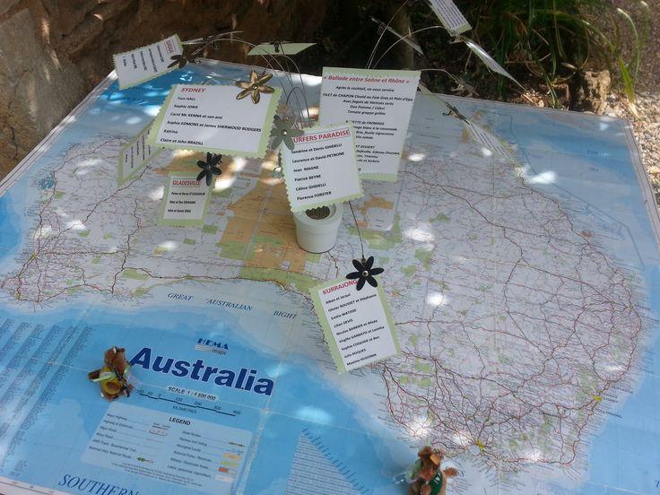 Plan de salle sur la carte Australienne #manoirtourieux #mariage
