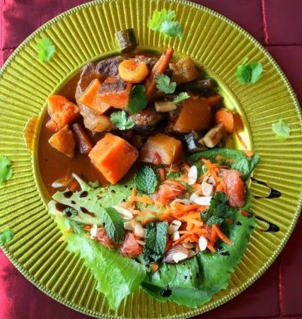 Moroccan inspired lamb potjie