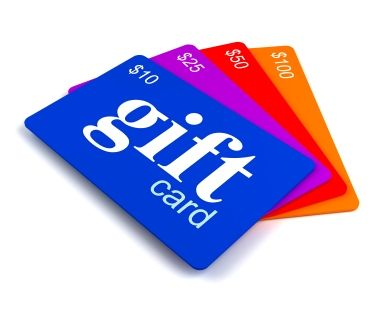 Gift Cards (food store, Staples, Home Depot, Best Buy, etc) - any amount