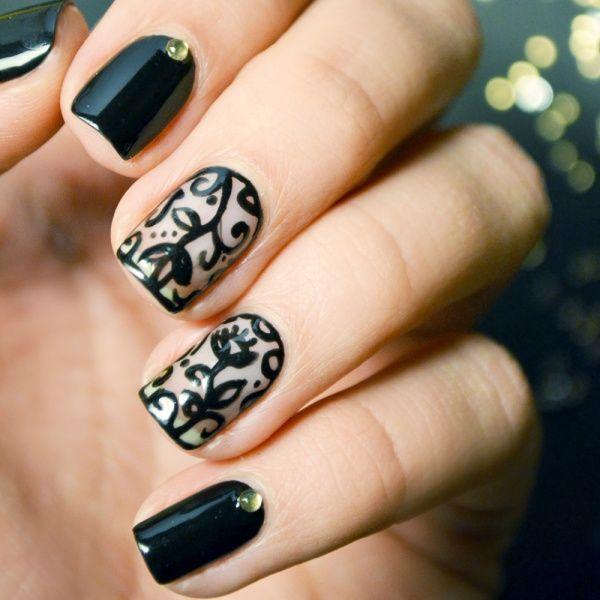 glam nail art