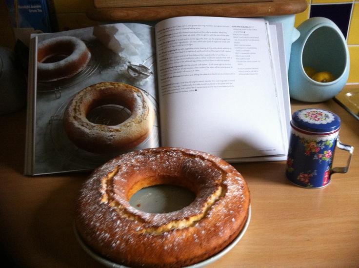 Delicious!! Nigella's Yoghurt Pot Cake (Ciambella) - from her Nigellissima book.