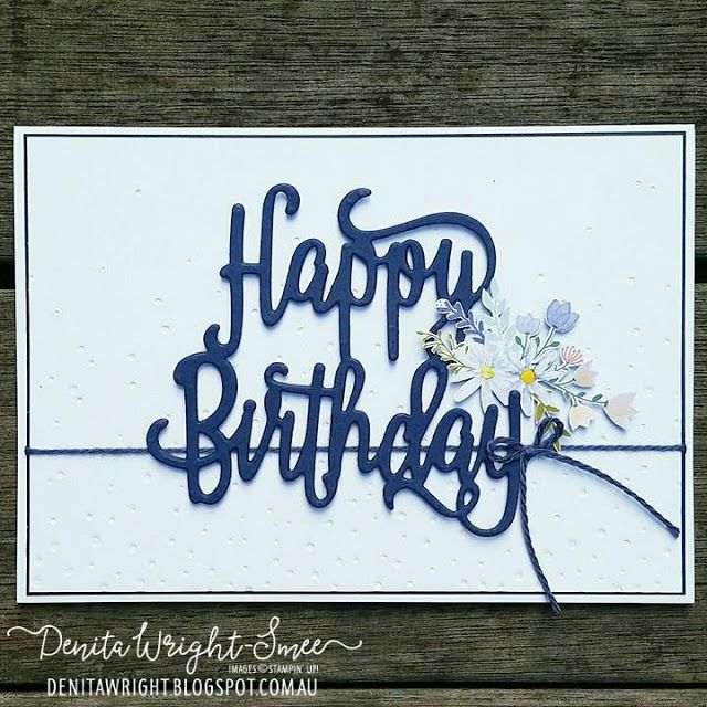 Happy Birthday thinlits die, Delightful Daisy DSP, Stampin' Up!
