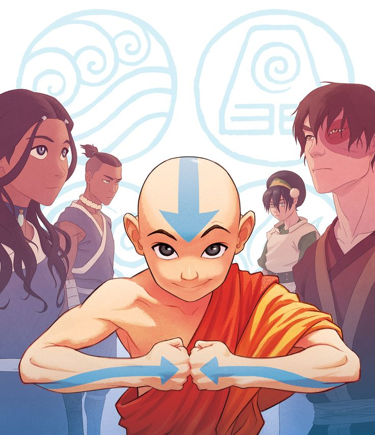 OK, here is the cover art I did for a new upcoming Blu-ray release of the complete Avatar: The Last Airbender series (swipe for the slipcase cover). They figured out a way to uprez the footage from the original masters. The Blu-ray will be available exclusively from Best Buy starting May 1st, then available nationally starting June 5th. IGN has some more info — you can click on my Tumblr link in my bio for a post with that link. Thanks for your interest in the art as I posted process pics…
