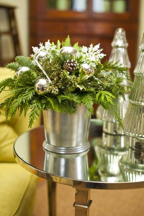 pretty use for an old mint julep cup (designed by P. Allen Smith)