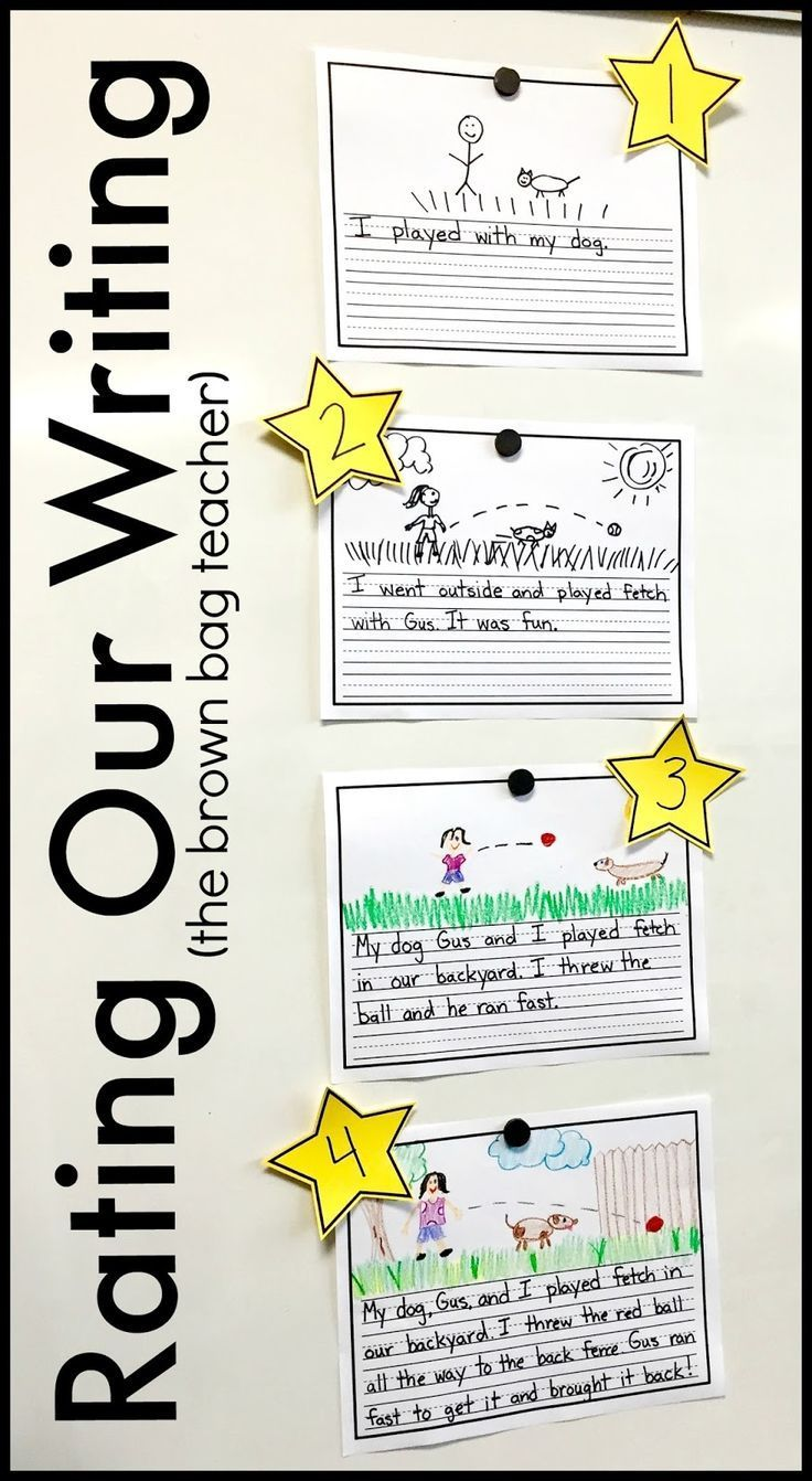 Great ideas for Scaffolding Beginning Writers. LOVE this FREE writing rubric, too!
