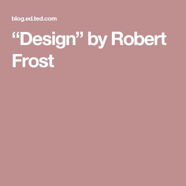 robert frost nature thesis