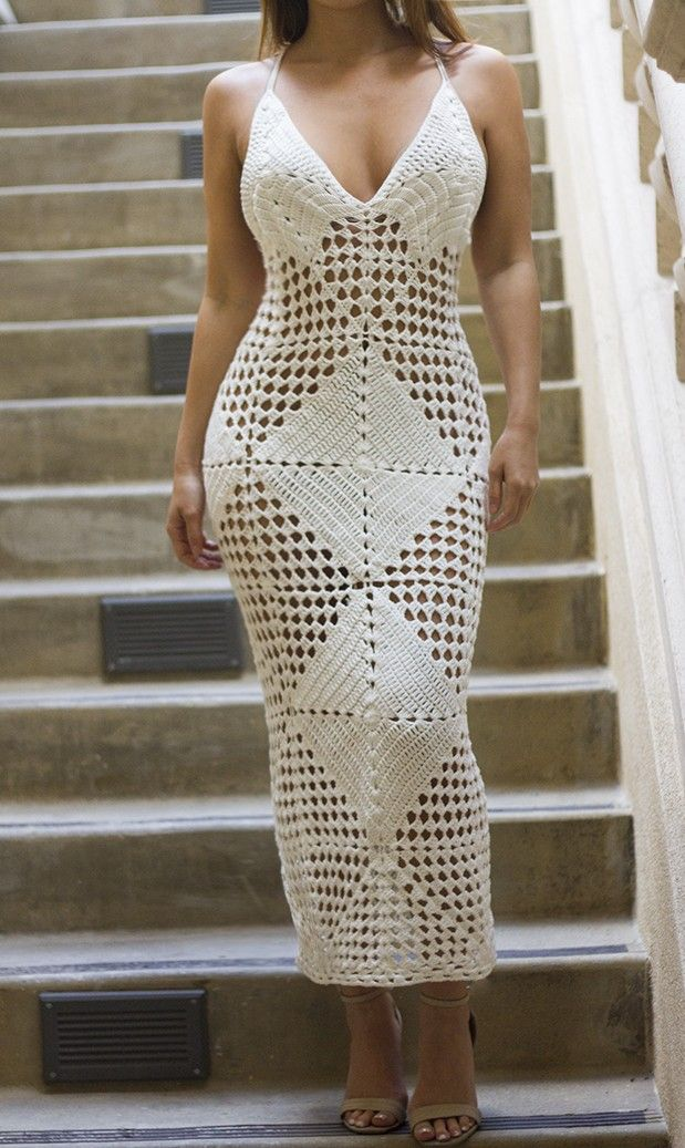 LIMITED EDITION White Crochet Coverup Dress - Dresses