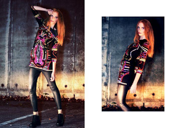 Photo: Orsolya Nagy Styling: Forgeron Model: Viktória Jakab MUA: Bernadett Pető Hair: Simon Wamberszky dress:Virag Kerenyi Shoes:Vagabond