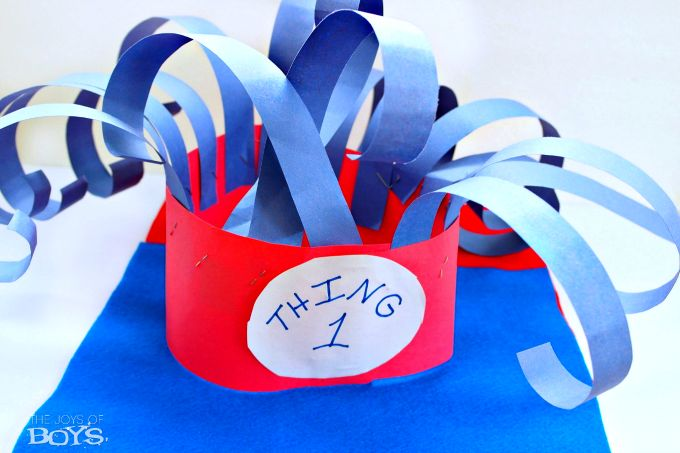 Thing 1 Hat : Easy Dr Seuss Dress-up Idea - The Joys of Boys