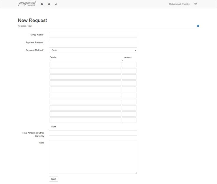 Payment Request form Payment Request Web App Pinterest - cheque request form