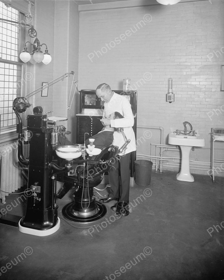 Dentist Office 1920's Vintage 8x10 Reprint Of Old Photo