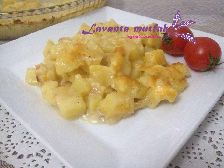 Fırında Mantar Soslu Patates