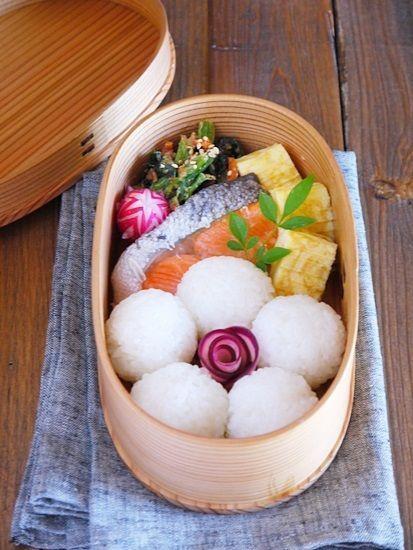 鮭の味噌漬け焼き弁当