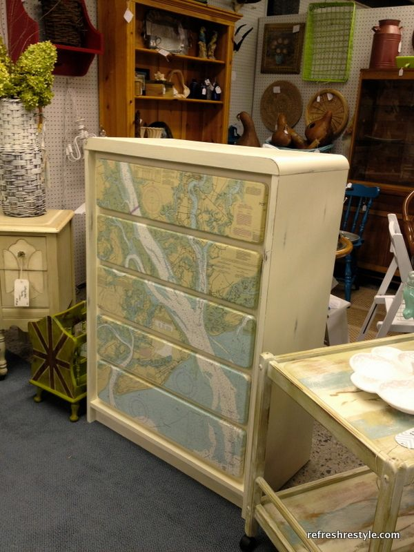 Mod Podge Map Dresser - Welcome to reFresh reStyle!